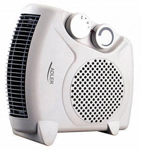 Adler Radiateur soufflant électrique AD77, Chauffage d'appoint, 2 niveaux de chauffage 1000W / 2000W de la marque Adler image 0 produit