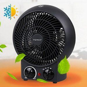 Aigostar Airwin Black 33IEL - Chauffage soufflant, radiateur et ventilateur de 2000W avec régulateur de température et de puissance. Protection contre la surchauffe. Couleur noir. Design exclusif. de la marque Aigostar image 0 produit