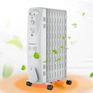 Aigostar Heating Girl 33IEI– Radiateur à bain d'huile portable. 9 éléments, 2000 W. 3 niveaux de puissance et thermostat réglable. Couleur blanc. Design exclusif. de la marque Aigostar image 0 produit