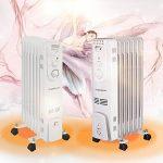 Aigostar Hotwin 33ICZ – Radiateur à bain d'huile portable. 7 éléments, 1500 W. 3 niveaux de puissance et thermostat réglable. Design exclusif. de la marque Aigostar image 2 produit