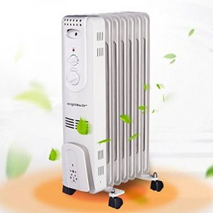 Aigostar Hotwin 33ICZ – Radiateur à bain d'huile portable. 7 éléments, 1500 W. 3 niveaux de puissance et thermostat réglable. Design exclusif. de la marque Aigostar image 0 produit