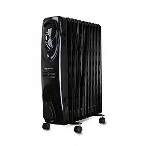 Aigostar Tummie 33JIE – Radiateur à bain d'huile portable. 11 éléments, 2300 W. 3 niveaux de puissance et thermostat réglable. Couleur noir. Design exclusif. de la marque Aigostar image 0 produit
