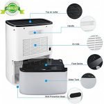 AIRPLUS Déshumidificateur Electrique d'Air Compact 2.5L pour l'Humidité et les Moisissures à la Maison, pour Cuisine, Chambre, Caravane, Bureau, Garage de la marque AIRPLUS image 4 produit