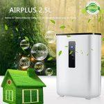 AIRPLUS Déshumidificateur Electrique d'Air Compact 2.5L pour l'Humidité et les Moisissures à la Maison, pour Cuisine, Chambre, Caravane, Bureau, Garage de la marque AIRPLUS image 2 produit