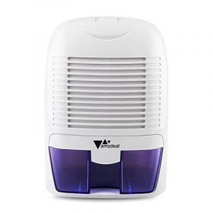 Amzdeal Déshumidificateur Electrique avec 1500ML Réservoir d'eau pour Éliminer Humidité, Mini Déshumidificateur d'Air pour Cuisine, Chambre, Salles de Bains, Toilettes, Cabinet - Blanc de la marque Amzdeal image 0 produit