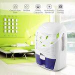 Amzdeal Déshumidificateur Electrique avec 1500ML Réservoir d'eau pour Éliminer Humidité, Mini Déshumidificateur d'Air pour Cuisine, Chambre, Salles de Bains, Toilettes, Cabinet - Blanc de la marque Amzdeal image 5 produit