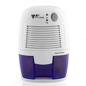Amzdeal Déshumidificateur Electrique avec 500ML Réservoir d'eau pour Éliminer Humidité, Mini Déshumidificateur d'Air pour Cuisine, Chambre, Salles de Bains, Toilettes, Cabinet - Blanc de la marque Amzdeal image 0 produit