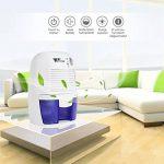 Amzdeal Déshumidificateur Electrique avec 500ML Réservoir d'eau pour Éliminer Humidité, Mini Déshumidificateur d'Air pour Cuisine, Chambre, Salles de Bains, Toilettes, Cabinet - Blanc de la marque Amzdeal image 6 produit