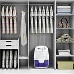 Amzdeal Déshumidificateur Electrique avec 500ML Réservoir d'eau pour Éliminer Humidité, Mini Déshumidificateur d'Air pour Cuisine, Chambre, Salles de Bains, Toilettes, Cabinet - Blanc de la marque Amzdeal image 5 produit