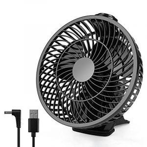 Amzdeal Ventilateur Electrique à Clipper avec Vitesse Maximale du vent 4M/S - Diamètre de 9,6 cm, Mini Ventilateur connexion USB Portable & Silencieux pour Maison Bureau Voyage (Noir) de la marque Amzdeal image 0 produit