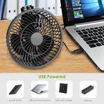 Amzdeal Ventilateur Electrique à Clipper avec Vitesse Maximale du vent 4M/S - Diamètre de 9,6 cm, Mini Ventilateur connexion USB Portable & Silencieux pour Maison Bureau Voyage (Noir) de la marque Amzdeal image 4 produit