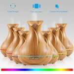 Banaus®BH400 Aroma Essential Oil Diffuser Humidifier Air Purifiers 400ml Ultrasonic Cool Mist and Colorful LED Lights for Bedroom/Living Room/Office Use Decoration Vase/Yoga/Spa/Baby Room(Yellow Wood Grain) de la marque BANAUS image 3 produit