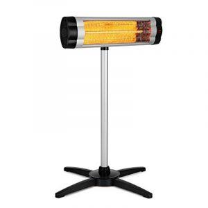 Blumfeldt Rising Sun Chauffage d'appoint • Trois réglages de chaleur selon les besoins individuels • Elément de chauffage en fibre de carbone • Diffusion de chaleur rapide • Niveau : 850 / 1650 / 2500 W • Châssis : fonte d'aluminium de la marque Blumfeldt image 0 produit