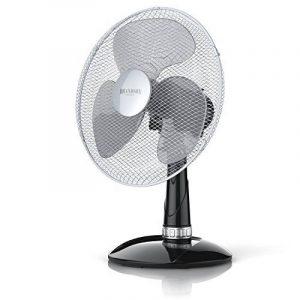Brandson - Ventilateur de table avec 40W | 30 cm de diamètre | Trois vitesses | pales aérodynamiques | fonction oscillation 85° | noir / argent de la marque Brandson image 0 produit