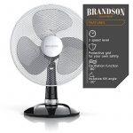 Brandson - Ventilateur de table avec 40W | 30 cm de diamètre | Trois vitesses | pales aérodynamiques | fonction oscillation 85° | noir / argent de la marque Brandson image 3 produit