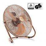 Brandson - Ventilateur in cuivre en design rétro avec 120 W | 50 cm de diamètre | Trois vitesses | débit d'air élevé | tête du ventilateur réglable | métal solide | couleur: cuivre de la marque Brandson image 1 produit