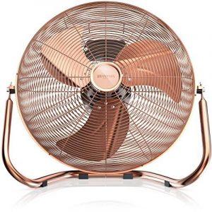Brandson - Ventilateur in cuivre en design rétro avec 120 W | 50 cm de diamètre | Trois vitesses | débit d'air élevé | tête du ventilateur réglable | métal solide | couleur: cuivre de la marque Brandson image 0 produit