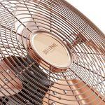 Brandson - Ventilateur in cuivre en design rétro avec 120 W | 50 cm de diamètre | Trois vitesses | débit d'air élevé | tête du ventilateur réglable | métal solide | couleur: cuivre de la marque Brandson image 4 produit