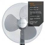 Brandson - Ventilateur sur Pied | 50W | 40 cm de diamètre | Hauteur Ajustable | Trois vitesses | pales aérodynamiques | fonction oscillation 80° | noir / argent de la marque Brandson image 2 produit