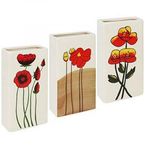 Com-Four Jeu de radiateur en céramique, humidificateur dans différents Designs 03 Stück - Blumen de la marque com-four image 0 produit