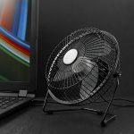 CSL - Ventilateur USB | ventilateur de bureau / Fan | cadre en métal / pales en plastique | pour ordinateur / ordinateur portable | noir de la marque CSL-Computer image 4 produit