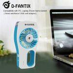 D-FantiX Ventilateur Portatif Portable Ventilateur à eau Misting Humidificateur Personnel Ventilateur pour la Beauté, la Maison, le Bureau et les Voyages (Bleu) de la marque D-FantiX image 5 produit