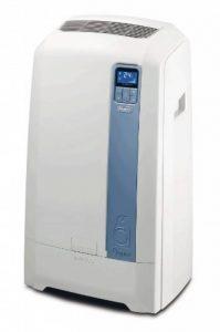 De Longhi PAC we112Eco Climatiseur mobile (Eau de technologie de l'air, max. Puissance de refroidissement 3kW/11500BTU/h, fonction de déshumidification séparée adapté aux pièces jusqu'à 100m³) [Classe énergétique EEK A +] de la marque DeLonghi image 0 produit