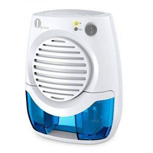 Déshumidificateur d'Air Electrique, 1byone Mini Absorbeur d'Humidité Portable contre les Moisissures pour Salle de bain, Toilette, Chambre, Vestiaire Espace Compact 10m² Max Réservoir d'eau 400ML - Blanc de la marque 1Byone image 0 produit