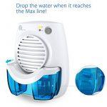 Déshumidificateur d'Air Electrique, 1byone Mini Absorbeur d'Humidité Portable contre les Moisissures pour Salle de bain, Toilette, Chambre, Vestiaire Espace Compact 10m² Max Réservoir d'eau 400ML - Blanc de la marque 1Byone image 2 produit