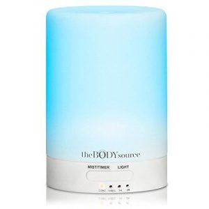 Diffuseur d'Huiles Essentielles, Diffuseur Aroma et Humidificateur Ultrasonique avec 7 LED multicolores L'aromathérapie chez vous, au bureau et au spa de la marque The Body Source image 0 produit