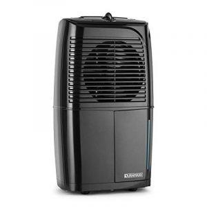 DURAMAXX Dryhouse 10 • déshumidificateur d'air • purificateurs d'air • électrique • 10 litres/24 h • compresseur 260 Watt • 12-14 m² • silencieux < 45 dB • réservoir de 2 litres • drainage permanent de l'eau • montage mural optionnel • noir de image 0 produit