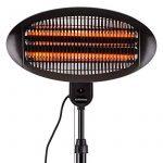 DURAMAXX Hot Roddy • radiateur à poser • radiateur • radiateur infrarouge • 3 tubes au quartz • 3 puissances: 650, 1300 ou 2000 watts • portée: jusqu'à 15 m² • inclinable à 45 ° • IPX4 • noir de la marque Duramaxx image 2 produit