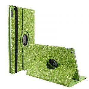 elecfan® Étui de protection rotatif 360° Motif floral PU étui en cuir pour iPad, vert, iPad Pro 9.7 de la marque elecfan image 0 produit