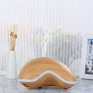 Excelvan Aroma Diffuser Humidificateur à ultrasons Air Mist Aromathérapie Purificateur Light Woodgrain 7 LED Lumières de Couleur et Fonction d'Arrêt Automatique Sans Eau pour Home Office Chambre Chamb de la marque Excelvan image 0 produit
