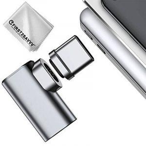 First2savvv 4.3A Type C USB C magnétique adaptateur, Convertisseur de câble en aluminium Type C à Type C Prise de connecteur MagSafe 4.3 A Charge rapide maximale pour MacBook Pro 2017/2016, Samsung Galaxy Note 8 / S8 TYPE C-Macbook-B-11 de la marque first image 0 produit