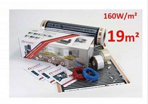Heating floor - 19m2 Kit de électrique Chauffage au Sol Film Chauffant sous Parquet, Bois ou Stratifé 160W/m2 de la marque Heating Floor image 0 produit