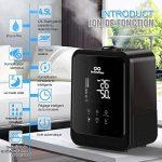 Humidificateur d'Air avec Ecran Tactile Intelligent | Infinitoo 4.5L Humidificateur Bébé | Arrêt Automatique | Brumisation Rotative 360° Vaporisateur | Parfait pour Salon, Chambre, SPA, Bureau,etc. de la marque infinitoo image 5 produit