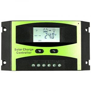 KKmoon Contrôleur de charge de panneau solaire 25 a 12V/24V PWM charge température Compensation surcharge Protection LCD affichage solaire hors réseau système de la marque KKmoon image 0 produit