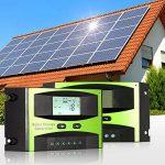 KKmoon Contrôleur de charge de panneau solaire 25 a 12V/24V PWM charge température Compensation surcharge Protection LCD affichage solaire hors réseau système de la marque KKmoon image 6 produit