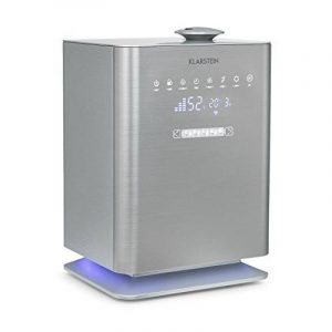 Klarstein Cubix • humidificateur • épurateur d'air • purificateur d'air • ionisateur • réservoir d'eau de 5,5 litres • sécurité enfant • télécommande • puissance d'humidification jusqu'à 350 ml/h • silencieux • argent de la marque Klar image 0 produit