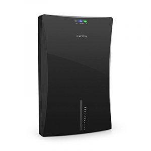 Klarstein Drybest 2000 2G • déshumidificateur d'air • purificateurs d'air • déshumidificateur électrique • 0,7 litres/24 h • compresseur de 70 watts • silencieux grâce à l'élément Peltier • 2 l réservoir • compact • • Ioniseur intégré • noir d image 0 produit