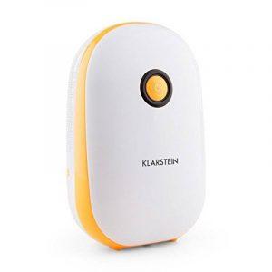 Klarstein Hiddensee 1500 • déshumidificateur d'air • purificateur d'air • électrique • 0,55 litre/24 h • compresseur éco 72 Watt • silencieux grâce à l'élément Peltier • réservoir d'eau 1 litre • compact • env. 21 x 34 x 14 cm (LxHxP) • bl image 0 produit
