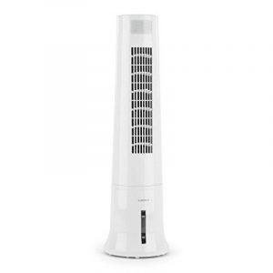 Klarstein Highrise Ventilateur rafraîchisseur colonne (humidificateur, purificateur d'air ,45W, télécommande, filtre à poussière amovible) - blanc de la marque Klarstein image 0 produit