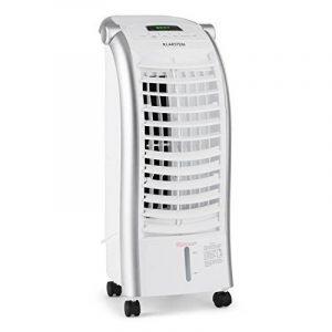 Klarstein Maxfresh - Rafraichisseur d'air/ventilateur sur roulettes avec différents modes de fonctionnement et fonction humidificateur (3 niveaux de puissance, 65W, télécommande) - blanc de la marque Klarstein image 0 produit
