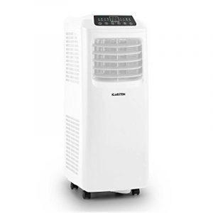 Klarstein Pure Blizzard 3 2G • Climatiseur mobile sur roulettes (écran LED, timer, systeme d'evaporation de l'eau automatique, 7000 BTU/h, reservoir 19,2L) - blanc de la marque Klarstein image 0 produit