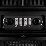 Klarstein St. Moritz • cheminée électrique • foyer • ventilateur chauffant • chauffage • Fonctions indépendantes • 1850 W • thermostat réglable • sans feu ni fumée • bois décoratif • noir de la marque Klarstein image 4 produit
