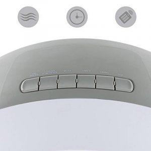Klarstein Whirlwind Rafraichisseur d'air • Ventilateur 3-en-1 • Fonction d'humidification de l'air commutable • Trois niveaux de puissance réglables • Trois modes de ventilation différents • Réservoir de 5,5L • 110W • Filtre à air amovible de image 0 produit
