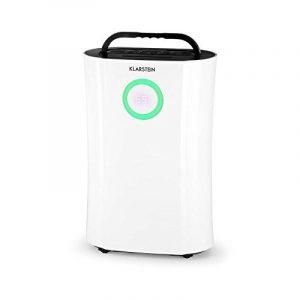 Klastein DryFy Pro • déshumidificateur • sécher • pièce • purificateur • ionisateur • fonction UV • minuterie • filtre au charbon actif • circulation d'air de 170 m³/h • idéal pour les pièces de 40 m² • réservoir de 4 litres à arrêt auto • blanc de la image 0 produit