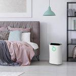 Klastein DryFy Pro • déshumidificateur • sécher • pièce • purificateur • ionisateur • fonction UV • minuterie • filtre au charbon actif • circulation d'air de 170 m³/h • idéal pour les pièces de 40 m² • réservoir de 4 litres à arrêt auto • blanc de la image 1 produit