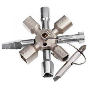Knipex TwinKey 00 11 01 – pour armoires électriques, fenêtres et systèmes de sectionnement de la marque Knipex image 0 produit